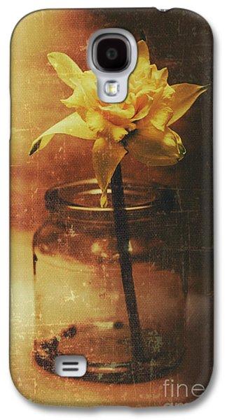 Vintage Daffodil Flower Art Galaxy S4 Case