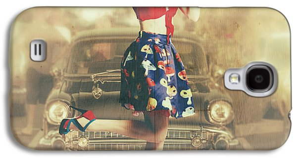 Vintage Drive Thru Pin-up Girl Galaxy S4 Case by Jorgo Photography - Wall Art Gallery