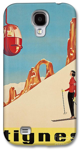 Vintage French Skiing Galaxy S4 Case by Mindy Sommers