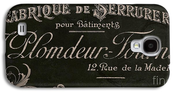 Vintage French Typography Sign Galaxy S4 Case by Mindy Sommers