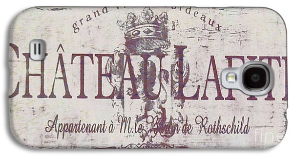 Vintage French Wine Sign Galaxy S4 Case by Mindy Sommers