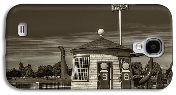 Vintage Gas Station - Zillah Teapot Dome  Galaxy S4 Case by Mark Kiver