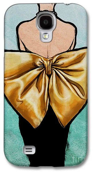 Vintage Glamour Fashion Dress Galaxy S4 Case by Mindy Sommers