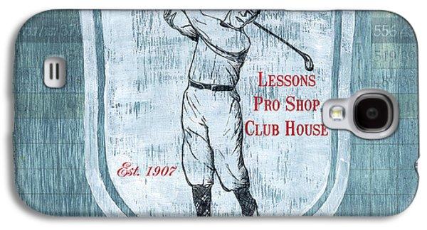 Vintage Golf Blue 1 Galaxy S4 Case by Debbie DeWitt