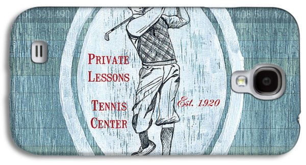 Vintage Golf Blue 2 Galaxy S4 Case by Debbie DeWitt