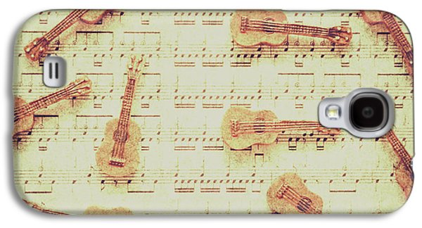 Vintage Guitar Music Galaxy S4 Case by Jorgo Photography - Wall Art Gallery