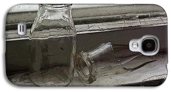 Vintage Half Pint Milk Bottles-2 Galaxy S4 Case by Sandra Church