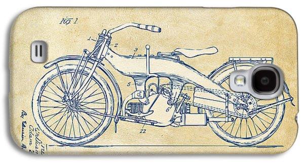 Vintage Harley-davidson Motorcycle 1924 Patent Artwork Galaxy S4 Case