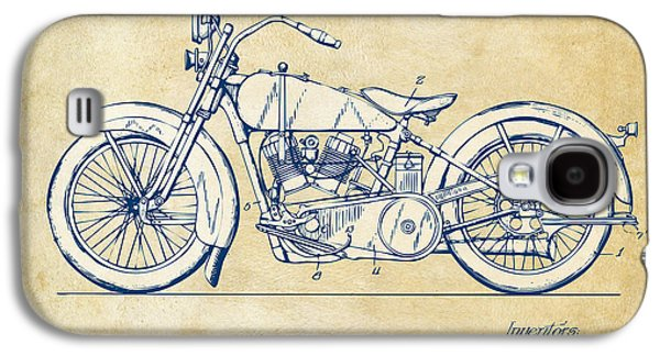 Vintage Harley-davidson Motorcycle 1928 Patent Artwork Galaxy S4 Case by Nikki Smith