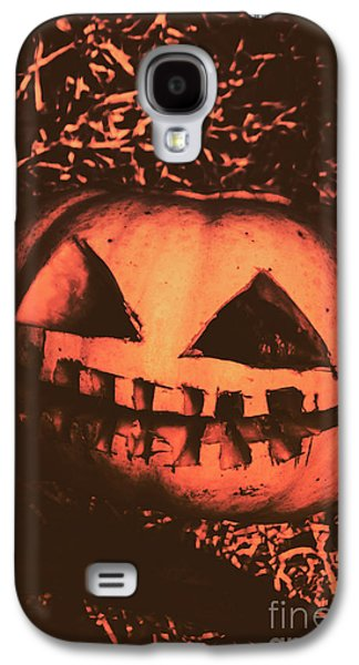 Vintage Horror Pumpkin Head Galaxy S4 Case by Jorgo Photography - Wall Art Gallery
