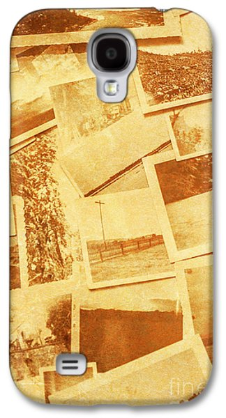 Vintage Image Of Various Photographs On Table  Galaxy S4 Case by Jorgo Photography - Wall Art Gallery