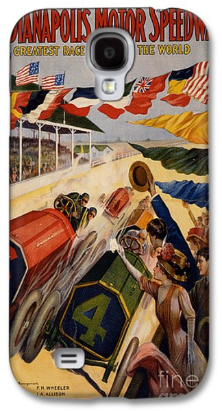 Vintage Indianapolis Motor Speedway Poster Galaxy S4 Case by Edward Fielding