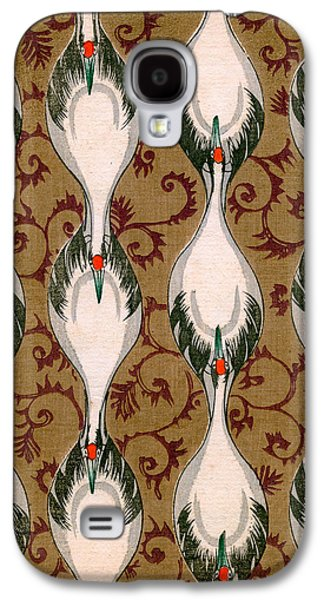 Vintage Japanese Illustration Of Cranes Flying Galaxy S4 Case by Japanese School