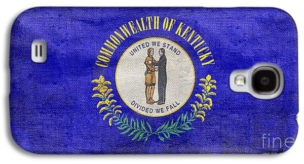 Vintage Kentucky Flag Galaxy S4 Case by Jon Neidert