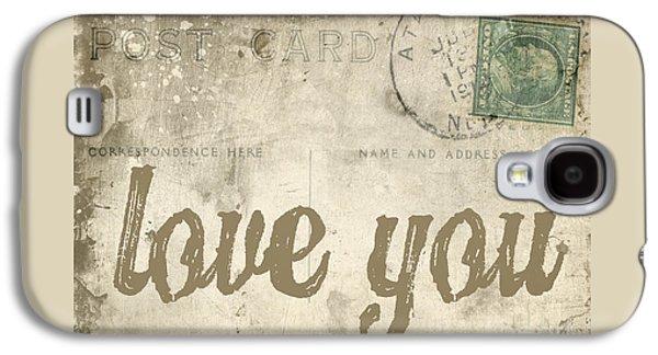 Vintage Love Letters Galaxy S4 Case by Edward Fielding