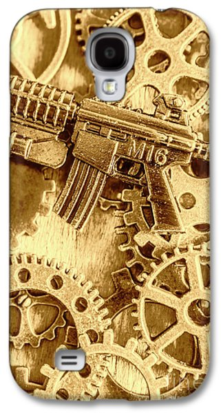 Vintage M16 Artwork Galaxy S4 Case by Jorgo Photography - Wall Art Gallery