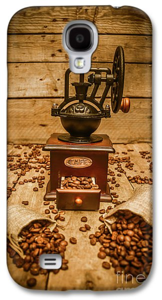 Vintage Manual Grinder And Coffee Beans Galaxy S4 Case