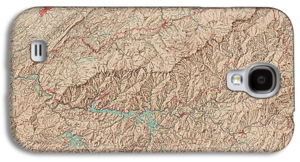 Vintage Map Of Great Smoky Mountains National Park - Usgs Topographic Map - 1949 Galaxy S4 Case by Blue Monocle