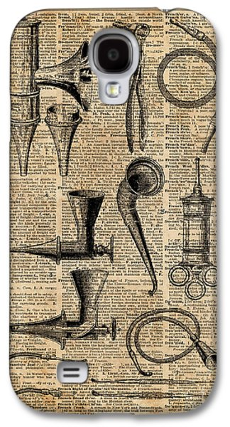 Vintage Medical Kits,ear Instruments,surgery Decoration,dictionary Art,zombie Apocalypse,halloween Galaxy S4 Case
