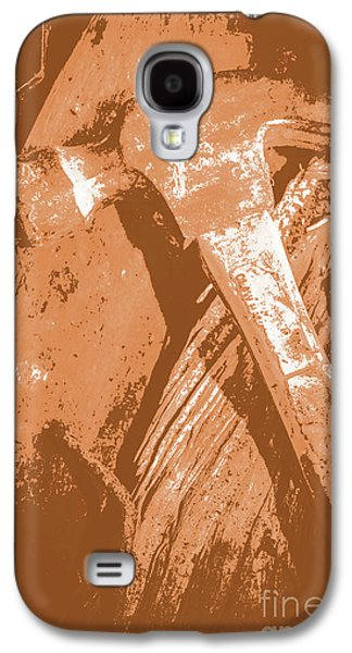Vintage Miners Hammer Artwork Galaxy S4 Case