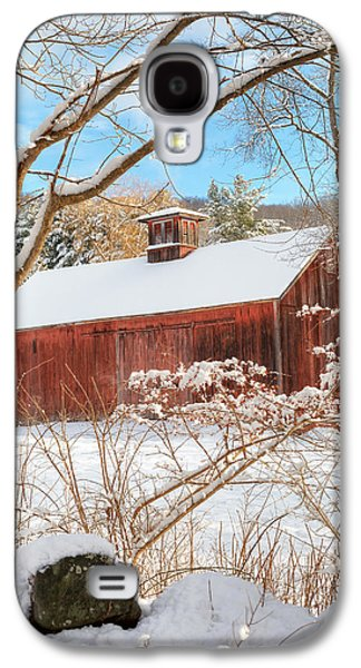 Vintage New England Barn Portrait Galaxy S4 Case by Bill Wakeley
