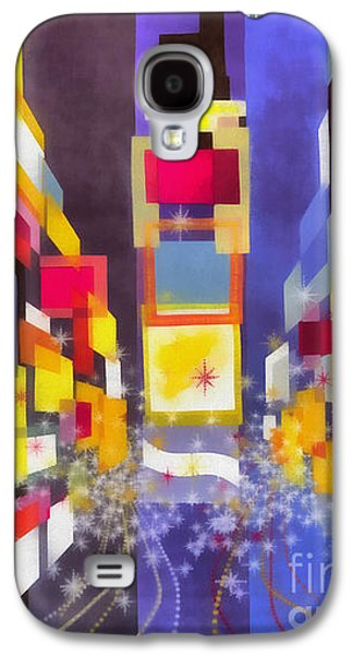 Vintage New York Fly Twa Times Square Galaxy S4 Case by Edward Fielding