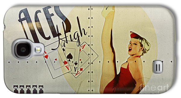 Vintage Nose Art Aces High Galaxy S4 Case by Cinema Photography