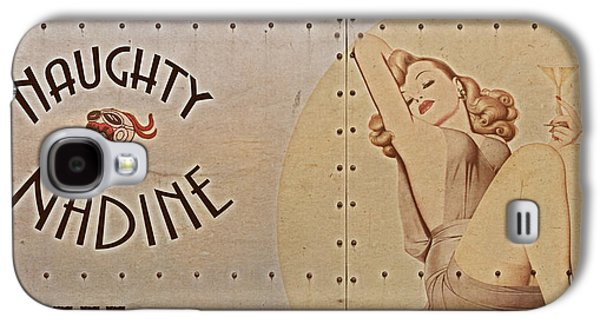 Vintage Nose Art Naughty Nadine Galaxy S4 Case by Cinema Photography