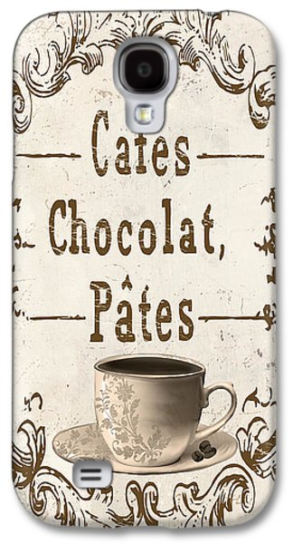 Vintage Paris Cafe Sign Galaxy S4 Case by Mindy Sommers