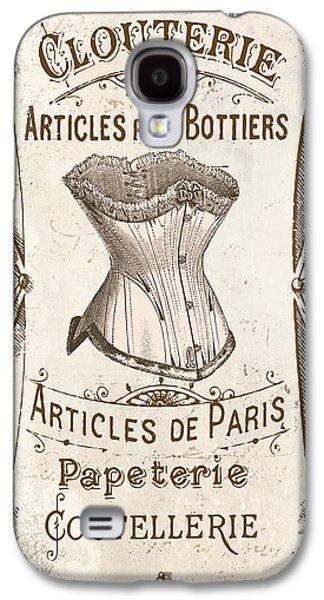Vintage Paris Corsette Sign Galaxy S4 Case by Mindy Sommers