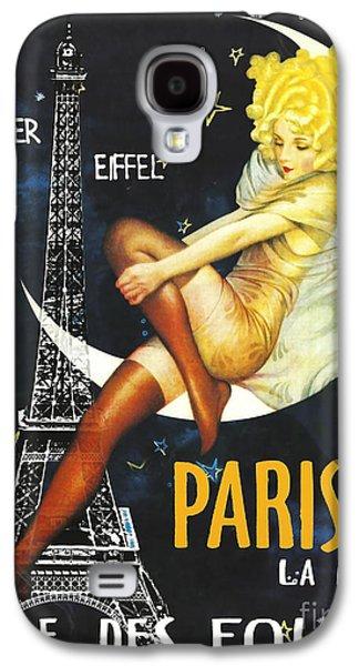 Vintage Paris Moon Galaxy S4 Case