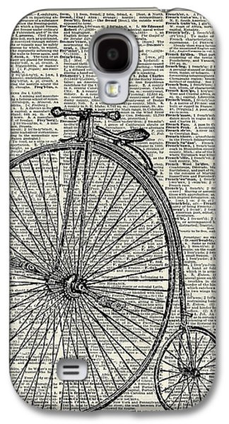 Vintage Penny Farthing Bicycle Galaxy S4 Case by Jacob Kuch