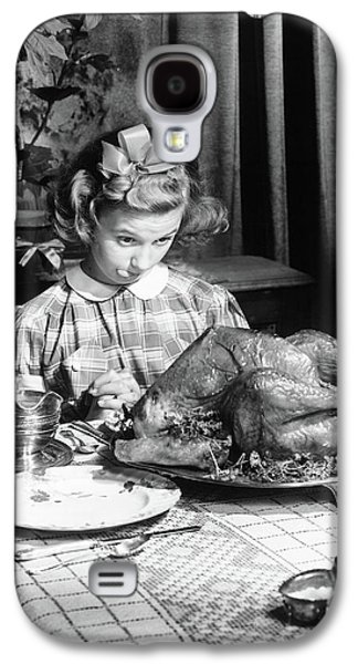 Vintage Photo Depicting Thanksgiving Dinner Galaxy S4 Case by American School