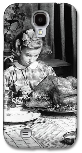 Vintage Photo Depicting Thanksgiving Dinner Galaxy S4 Case