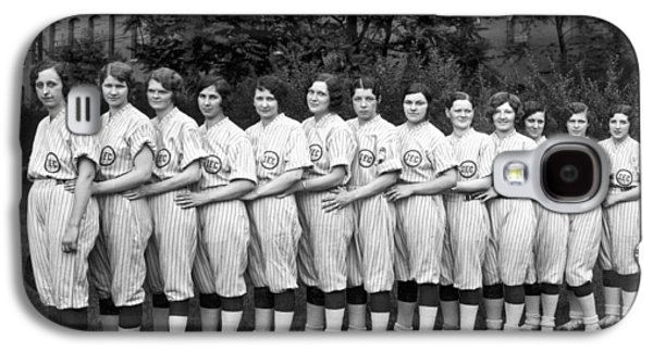Vintage Photo Of Women's Baseball Team Galaxy S4 Case by American School