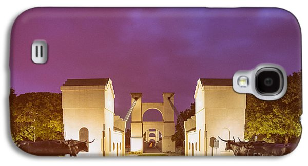 Vintage Photograph Of The Waco Suspension Bridge And Chisholm Trail At Dawn - Downtown Waco - Texas Galaxy S4 Case