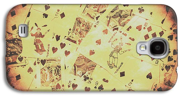 Vintage Poker Card Background Galaxy S4 Case by Jorgo Photography - Wall Art Gallery
