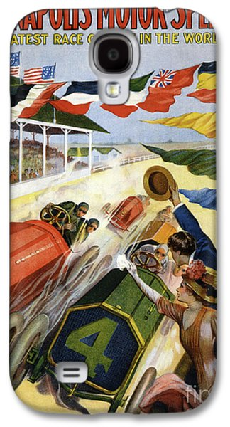 Vintage Poster Advertising The Indianapolis Motor Speedway Galaxy S4 Case by American School