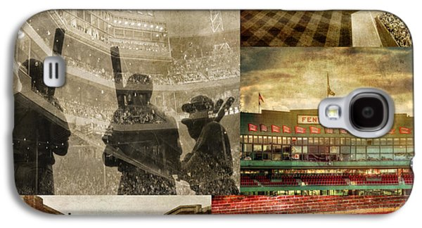 Vintage Red Sox Fenway Park Baseball Collage Galaxy S4 Case by Joann Vitali