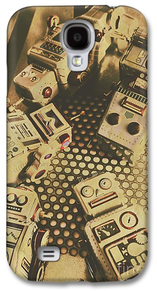 Vintage Robot Charging Zone Galaxy S4 Case by Jorgo Photography - Wall Art Gallery