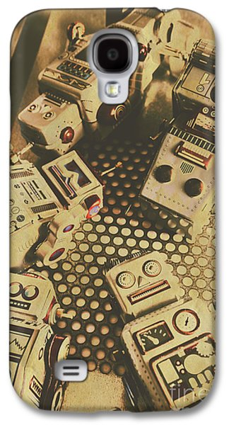 Vintage Robot Charging Zone Galaxy S4 Case