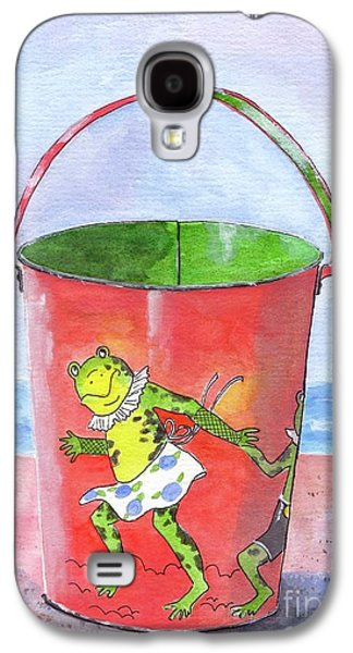 Vintage Sand Pail Dancing Frogs Galaxy S4 Case by Sheryl Heatherly Hawkins