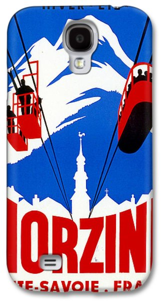 Vintage Ski Travel France Galaxy S4 Case by Mindy Sommers