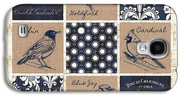Vintage Songbirds Patch Galaxy S4 Case by Debbie DeWitt