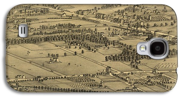 Vintage St Louis Map - 1875 Galaxy S4 Case by Camille Dry