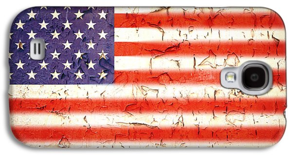 Vintage Stars And Stripes Galaxy S4 Case by Jane Rix