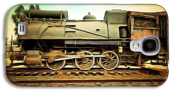 Vintage Steam Locomotive 5d28362brun Galaxy S4 Case