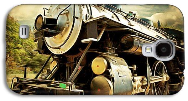 Vintage Steam Locomotive 5d29110brun Galaxy S4 Case by Home Decor