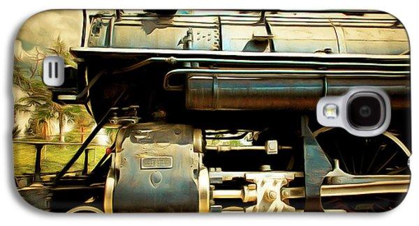 Vintage Steam Locomotive 5d29112brun Galaxy S4 Case by Home Decor