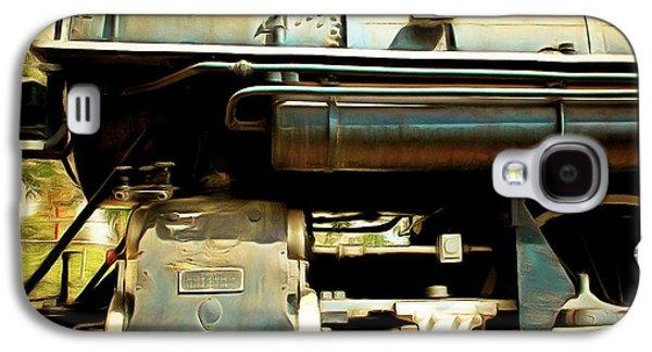 Vintage Steam Locomotive 5d29112brun Sq Galaxy S4 Case by Home Decor